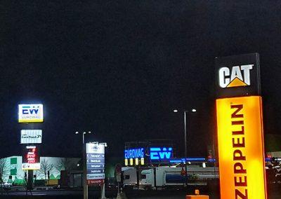 Osvětlení venkovních parkovacích ploch